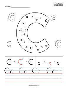 letter  practice teaching worksheet teaching squared