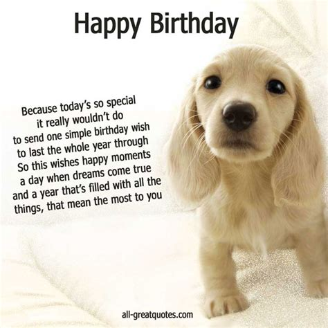 Birthday Message Dog