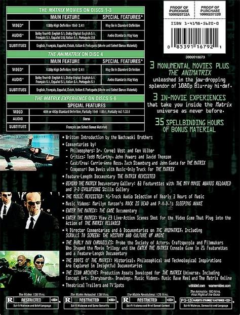 Matrix  The Ultimate Matrix Collection [bluray][6disc