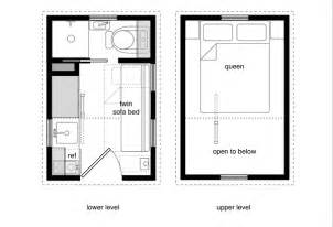 Micro Homes Floor Plans by Tiny House Floor Plans With Lower Level Beds Tiny House