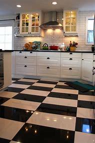 Black and White Kitchen Floor Tile