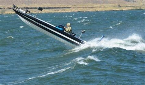Bass Boat In Rough Water by Legend Boat Rough Water Test