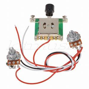 Prewired Guitar Wiring Harness 250k Pots 3 Way Switch For