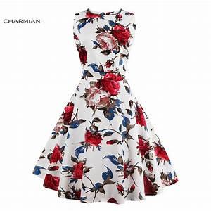 Charmian Women's Vintage Retro Dress Foral Print ...