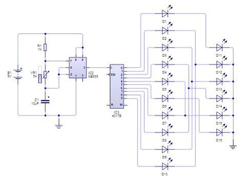 rangkaian led berjalan memanfaatkan prinsip kerja ic 555