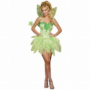 Tinkerbell Costume for Adults Fairy Halloween Fancy Dress ...