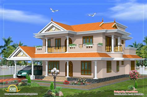 home design by beautiful 2 storied house design 2490 sq ft kerala
