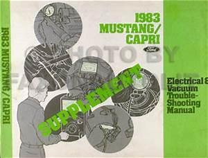1983 Ford Mustang Mercury Capri Foldout Wiring Diagram Original