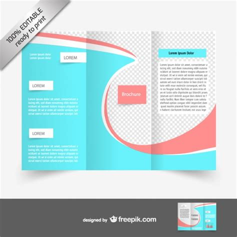 blue  red brochure template vector