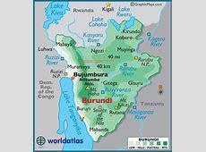 Burundi Large Color Map