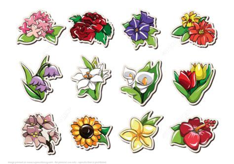 printable stickers  flowers  printable