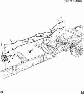 Service Manual  2012 Gmc Savana Diagram Showing Brake Line