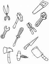 Coloring Tool Each Tools Carpenter Hellokids sketch template