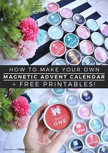 magnetic advent calendar diy tutorial free printables With make your own advent calendar template