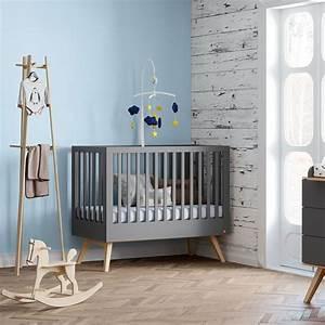 Lit Bebe Gris : vox meubles lit b b nature 70 x 140 cm gris lit b b vox meubles sur l 39 armoire de b b ~ Teatrodelosmanantiales.com Idées de Décoration