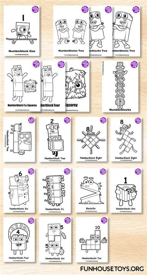 fun house toys numberblocks printable coloring pages coloring pages  kids coloring  kids