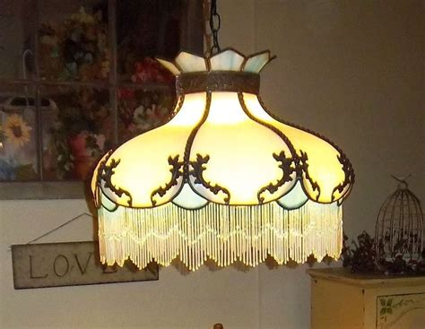 details  tiffany style stained glass hanging lamp