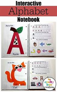 interactive alphabet notebook students create and craft With letter notebook