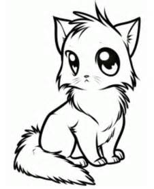 drawings of cats how to draw anime cat picture drawing stuff