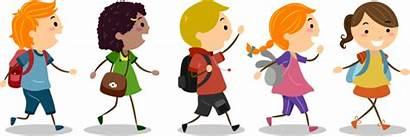 Walk Walking Week Students Children Bus Many