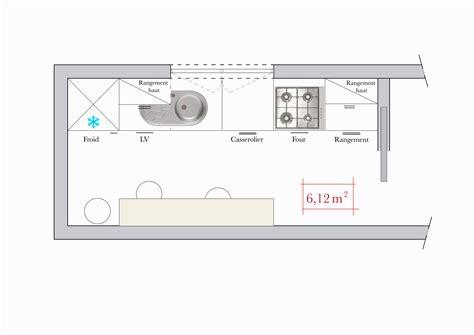 plan de cuisine hauteur idale plan de travail cuisine trappe dchets