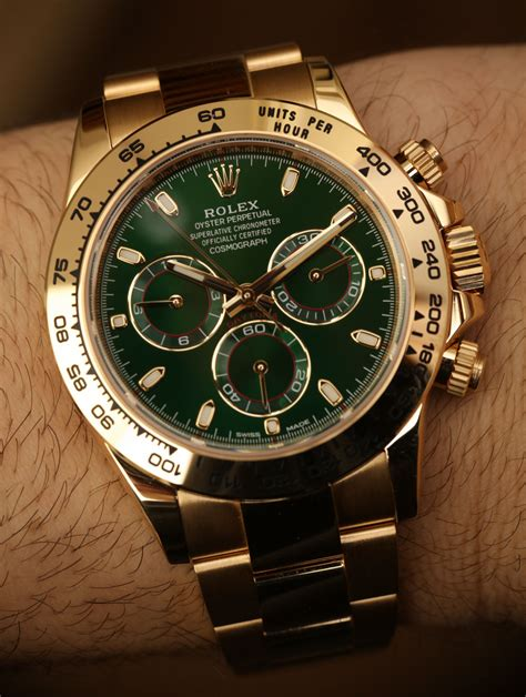 Rolex Cosmograph Daytona 116508 Green Dial 18k Yellow Gold ...