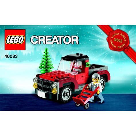 lego christmas tree truck 2013 set 2 40083 instructions
