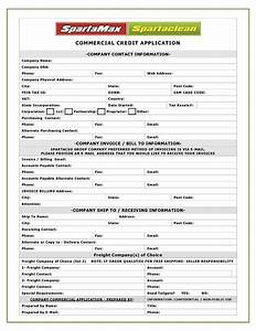 spartamax products new commercial customer With customer setup form template