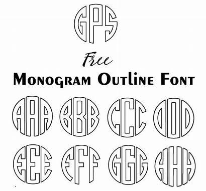 Monogram Circle Maker Fonts Silhouette Cameo Font