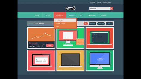 tuto creer  template web flat design avec photoshop cc