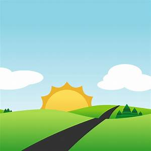Clipart - Simple Landscape