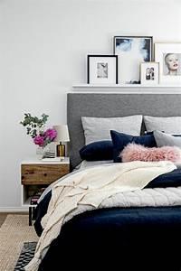 sensational ideas graues bett gestaltung schlafzimmer With balkon teppich mit welche tapete für schlafzimmer