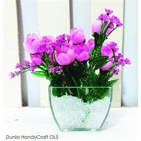 Pot Anggrek Plastik pasir akrilik vas pot bunga elevenia