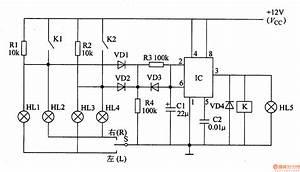 Motor Vehicle Steering Light Controller 1 - Control Circuit - Circuit Diagram