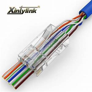 Xintylink Ez Rj45 Connector Rj45 Plug Cat5 Cat5e Cat6