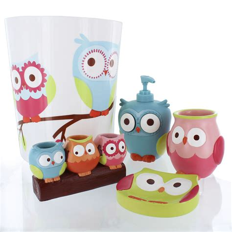 awesome owl bathroom set 9j21 tjihome