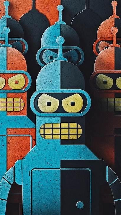 Futurama Bender Phone Iphone Wallpapers 1080 Bending