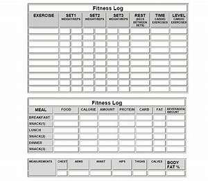fitness log sheets and more meal log sheets workout With fitness journal template printable