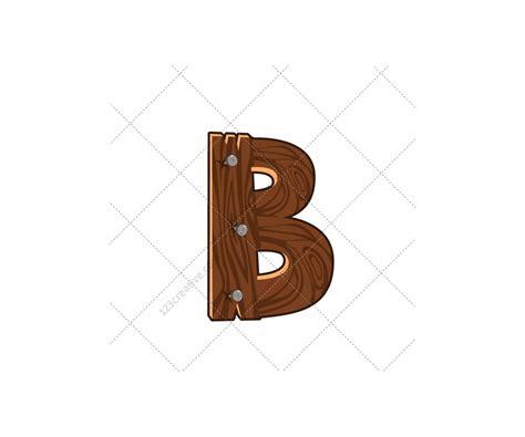 wooden alphabet vector pack royalty  font abc