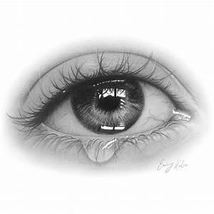 Eye Tear Drawing, an art print by Emmy Kalia - INPRNT