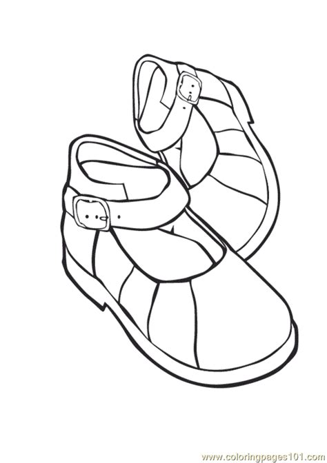shoes coloring page  shoes coloring pages
