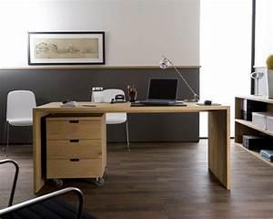 Bureau Contemporain Design : bureau en ch ne massif contemporain ethnicraft ~ Teatrodelosmanantiales.com Idées de Décoration