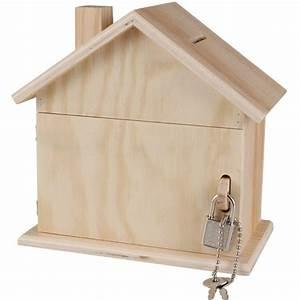 Boite Avec Cadenas : tirelire d corer tirelire bois maison avec cadenas cl s 15x8x14 5 cm ctop ~ Teatrodelosmanantiales.com Idées de Décoration