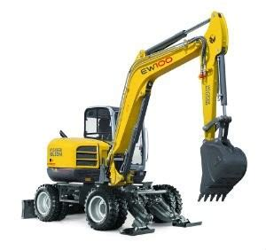 big improvements  wacker neusons largest wheeled excavator model ew  heavy equipment