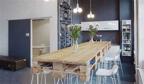 palette cuisine table en palette 44 idées à découvrir photos