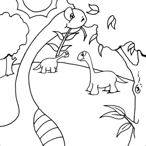 tree eating dinosaur printable   colouring pages