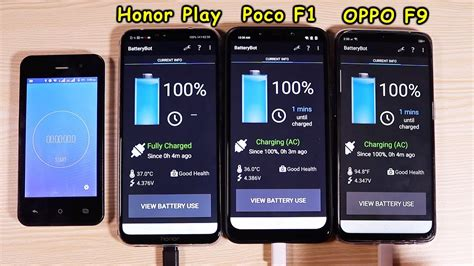 pocophone   honor play  oppo  battery test youtube