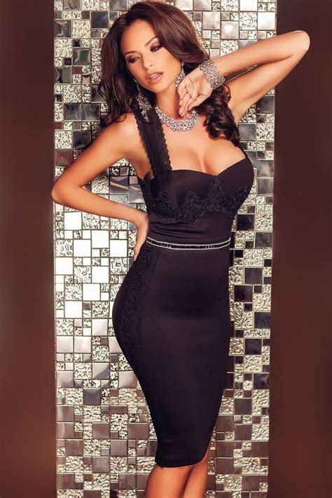 Women Sexy Lace Short Black Pencil Skirt Dress Online