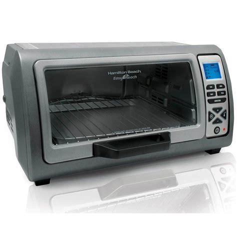Simple Toaster Oven - hamilton 6 slice easy reach toaster oven 31128