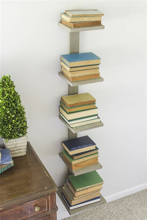 Diy Spine Bookshelf  Shades Of Blue Interiors
